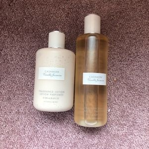 Victoria's Secret cashmere vanilla jasmine set